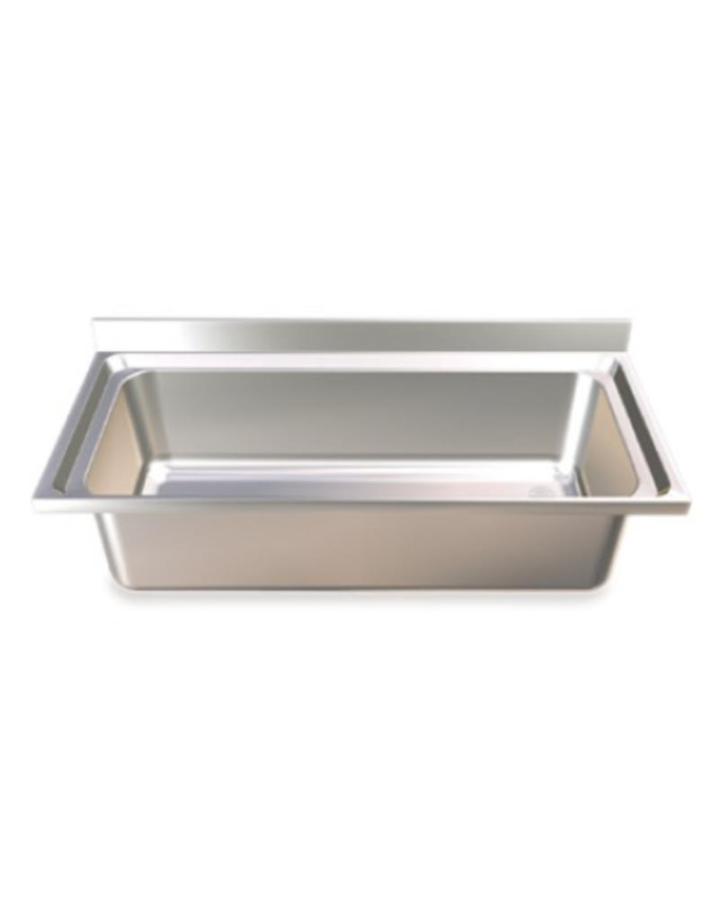 Sink high capacity with hinged doors
