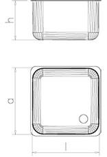 Spoelbak met afdruipplaat rechts en draaideuren