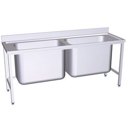 Double sink with large capacity