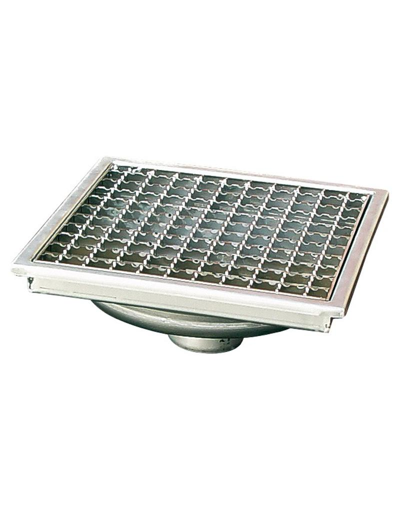 Drain grate with grid
