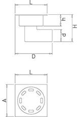 Drain Grate with corner tube