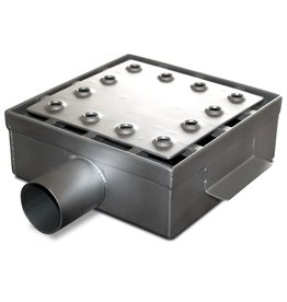 Drain grate with horizontal tube