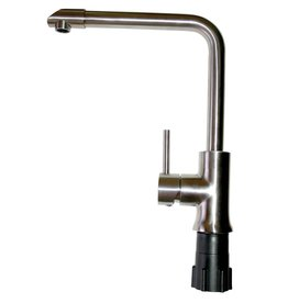 Stainless steel faucet with single inlet