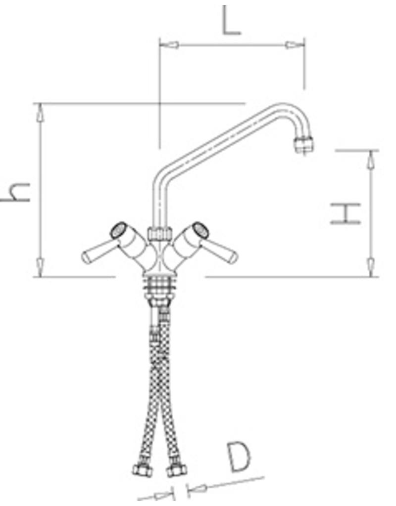 Mixer tap with quarter turn