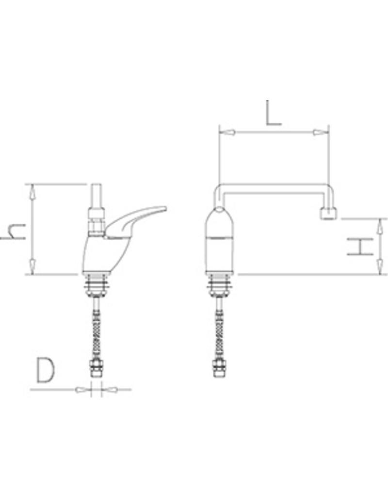 Low mixing tap