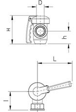 "2 1/4 ""drain valve"