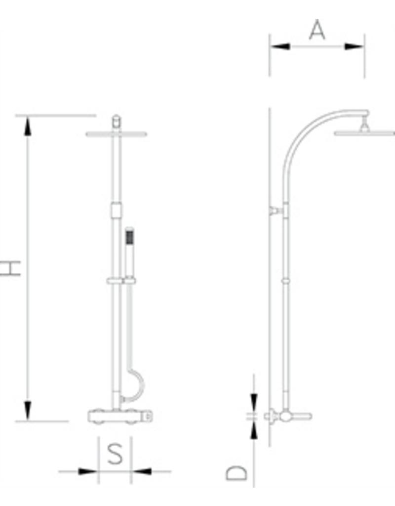 Rainfall tub shower tap set