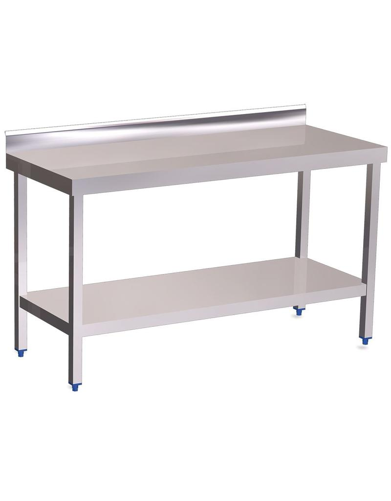 Wall table with shelf