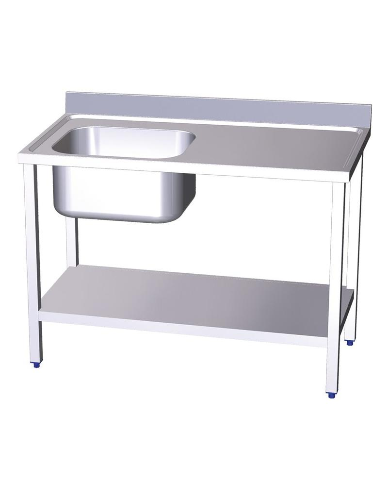 Table with sink and shelf
