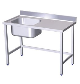 Table with sink and without shelf