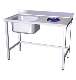 Sink with waste chute
