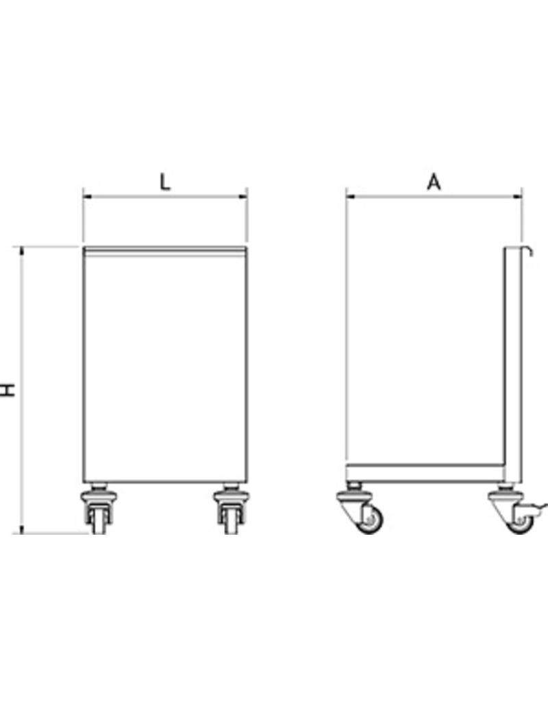 Sink cart for waste bin