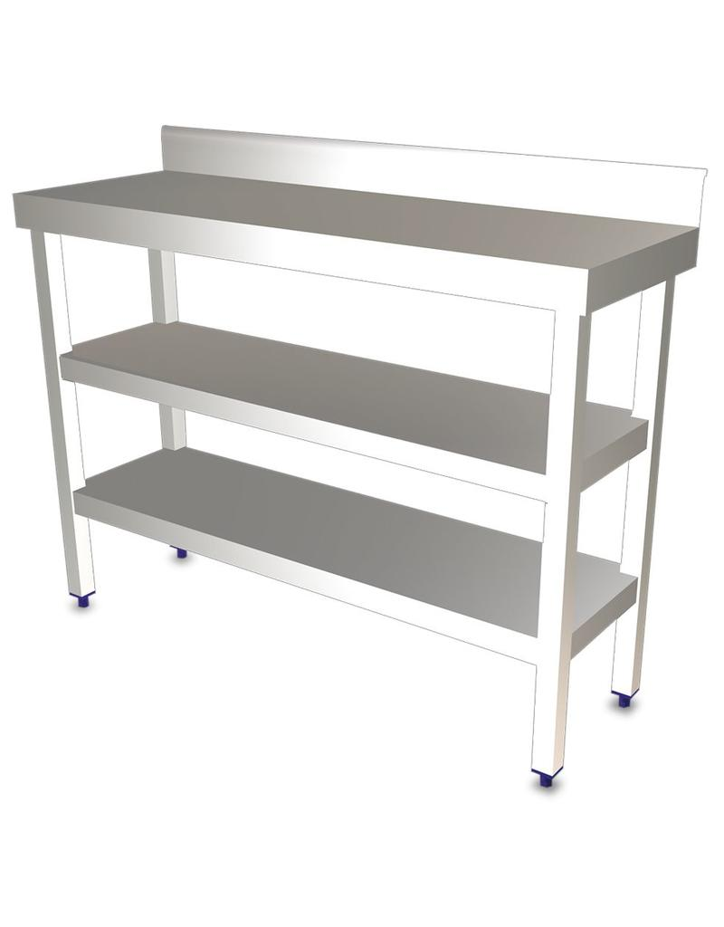 Wall table with two shelves