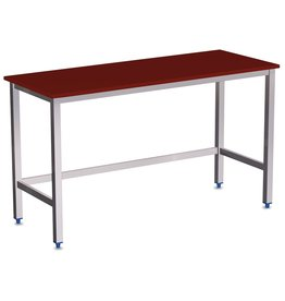 Table with polyethylene sheet without shelf