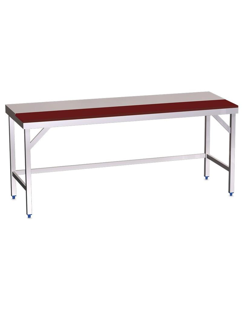 Tafel met half werkblad polyethyleen zonder legbord