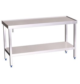 Table with gutter, raised edges and shelf