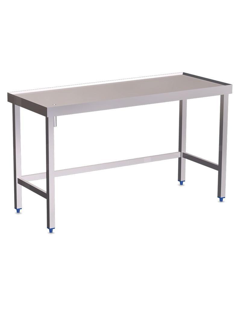 Tafel met goot, verhoogde randen zonder legbord