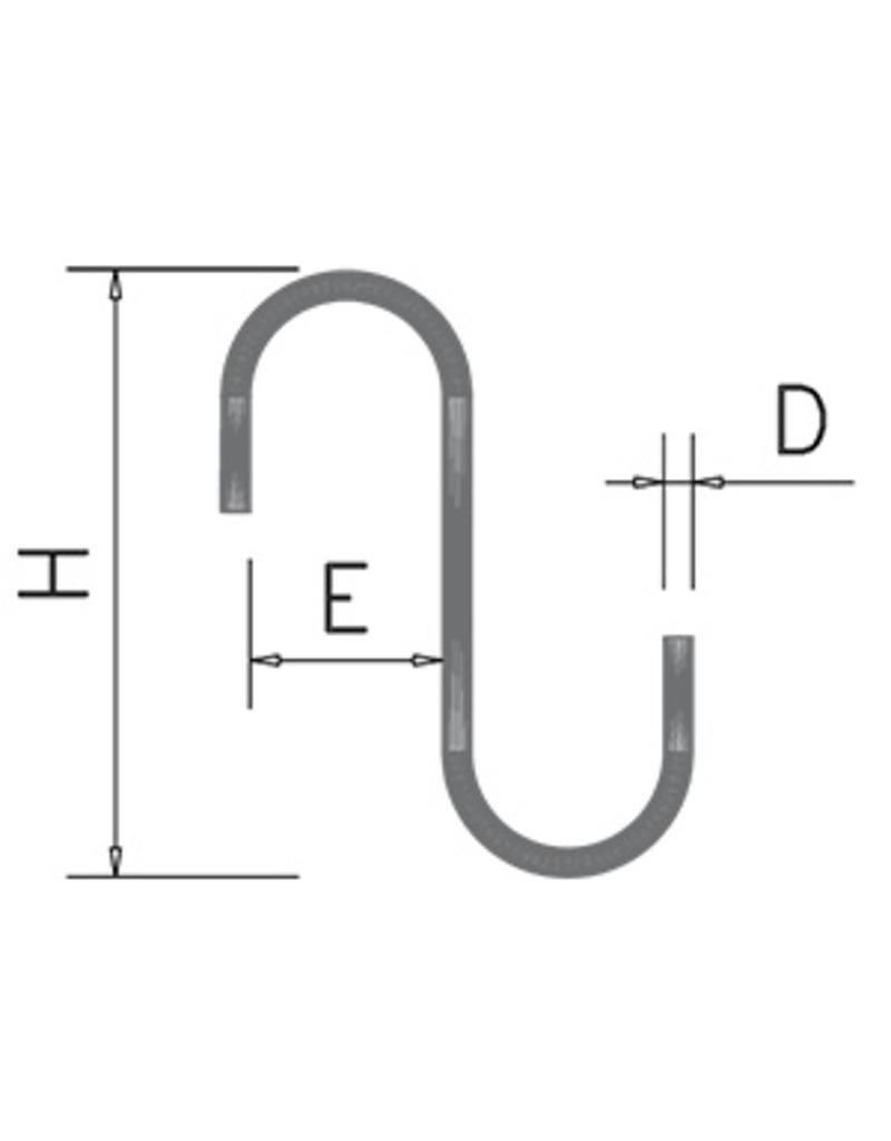 S-vorm haak zonder punt