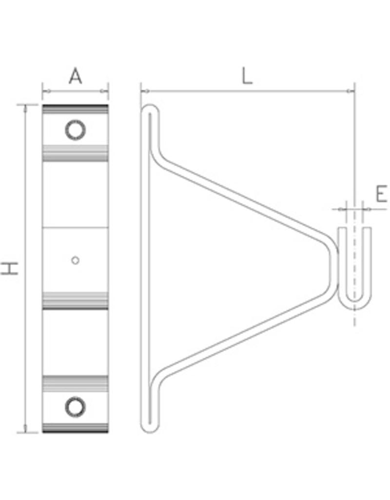 Bridge support with back