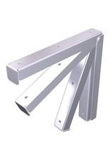 Foldable bracket for shelves