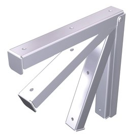 Foldable bracket for shelves