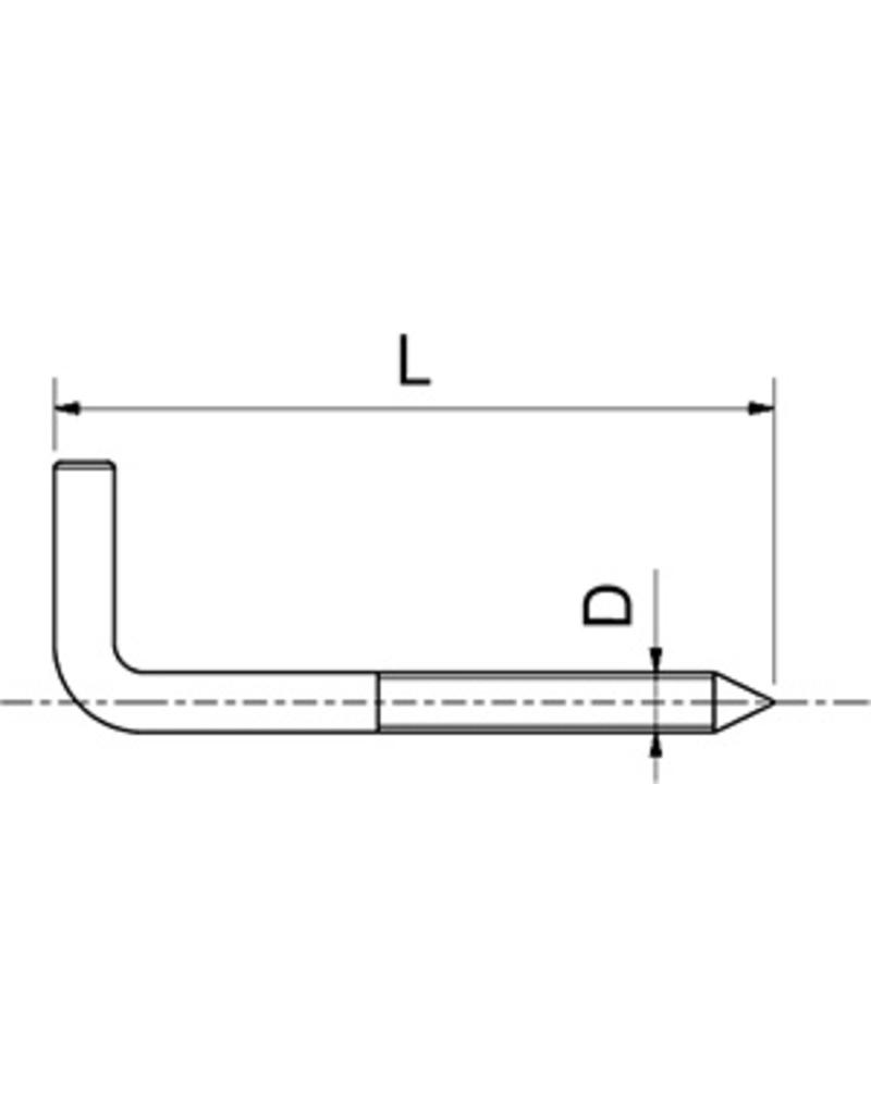 Square bend screw