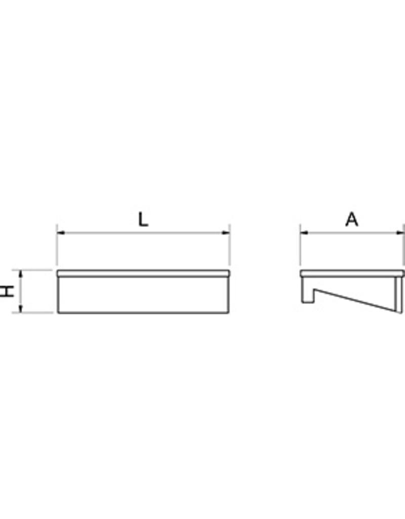 Polyethylene cutting board for fish counter