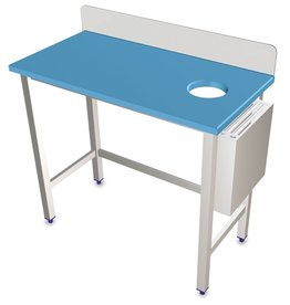 Preparation Table with polyethylene worktop and knife holder