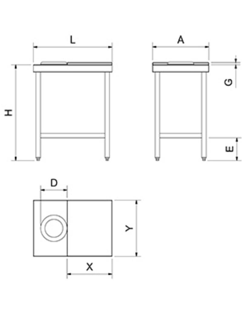 Standard preparation table