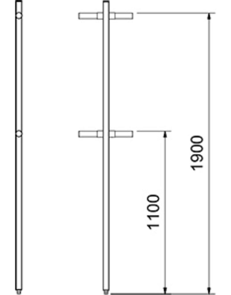 Geperforeerde kolom van cilinder - einde rechts
