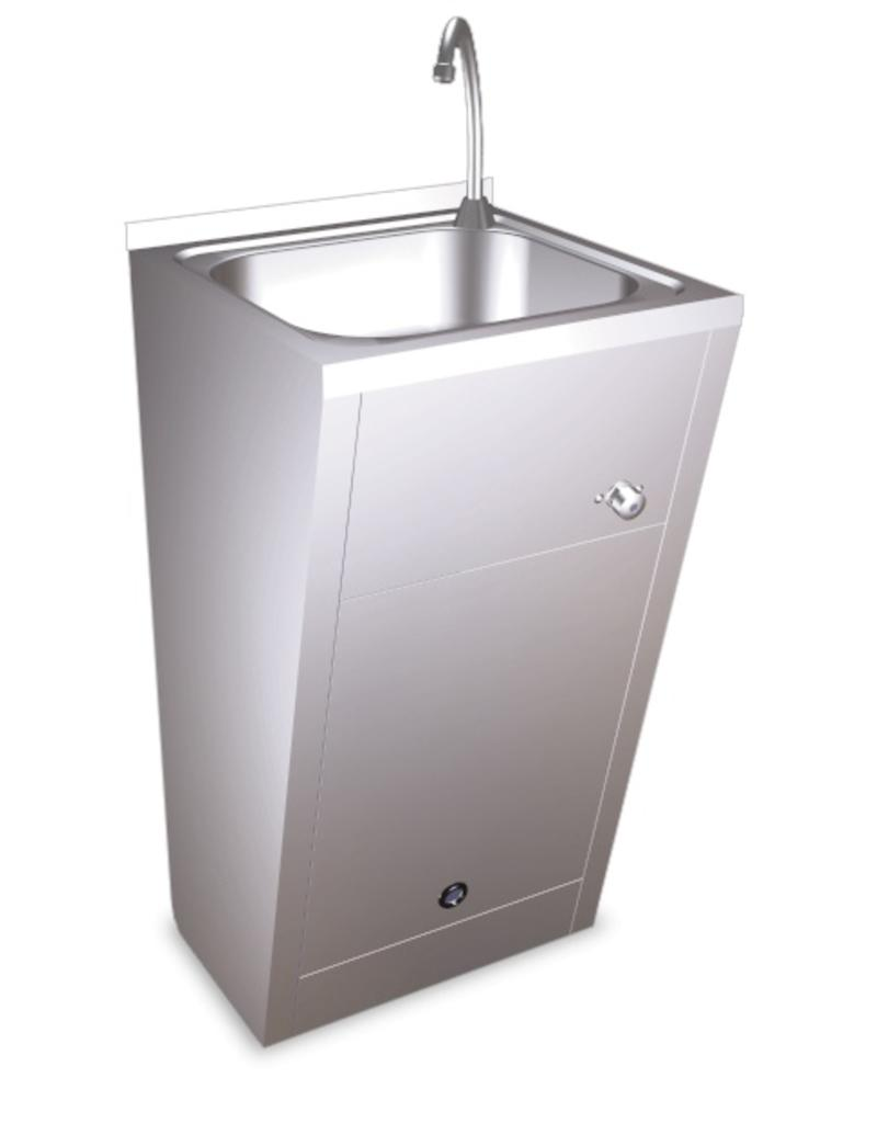 Standard hand basin - with knee operating