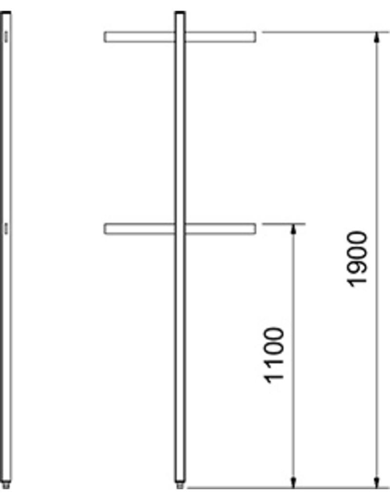 Perforated column bars - end