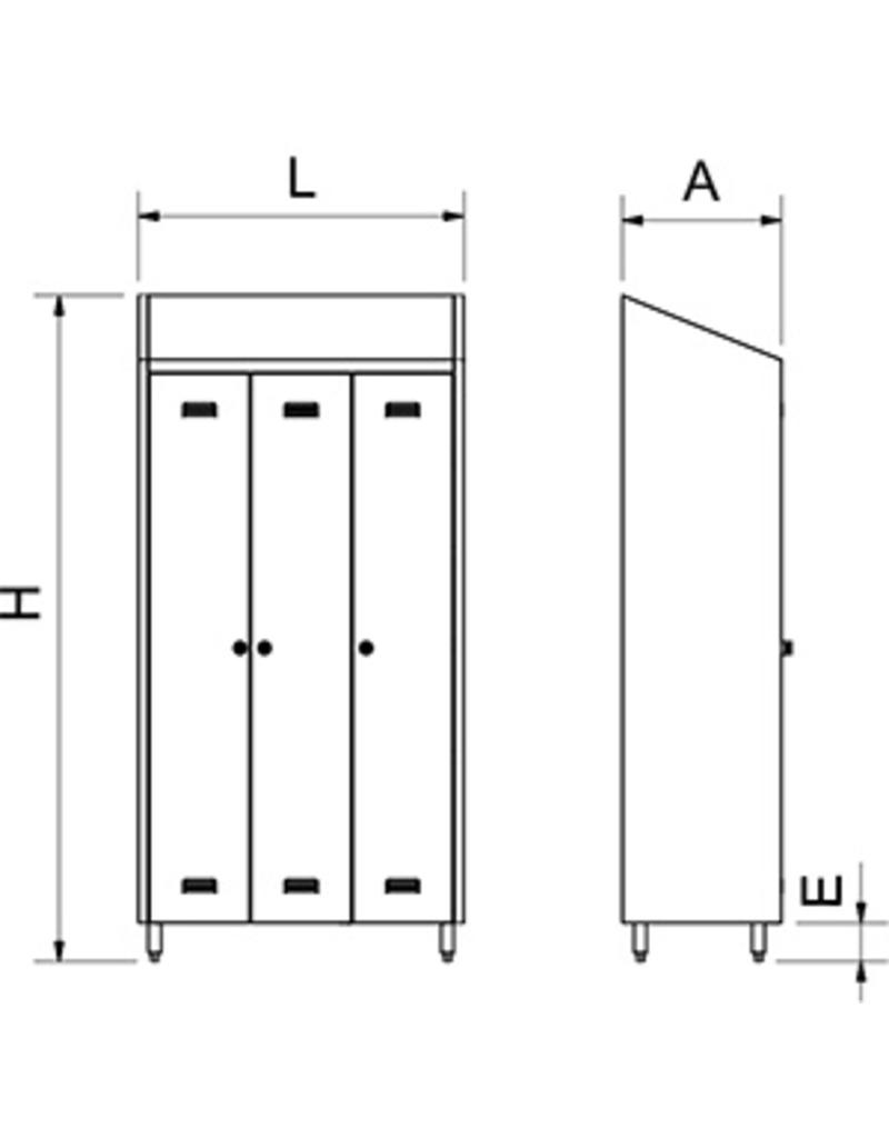 Stainless steel disinfecting wardrobe for tools and shoes