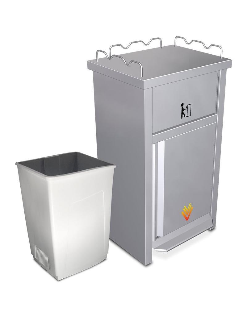 XS vuilnisbak om dienblad te legen