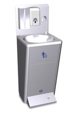 Mobiele handwasbak met vuilbakje + pomp 220V.