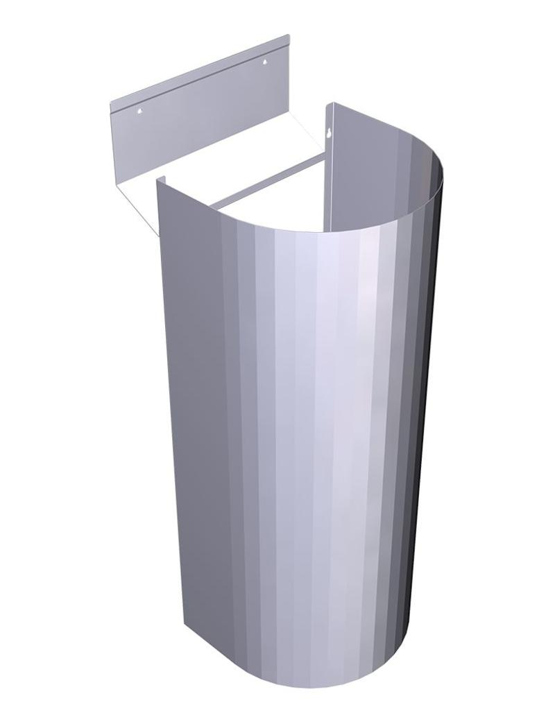 Inox foot for collective wash basin