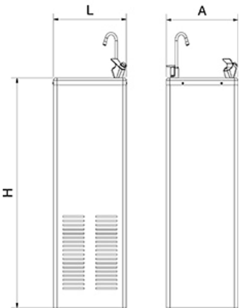 Drinking Fountain Inox Draft System Cold Water Inox Rvs For Food Industry