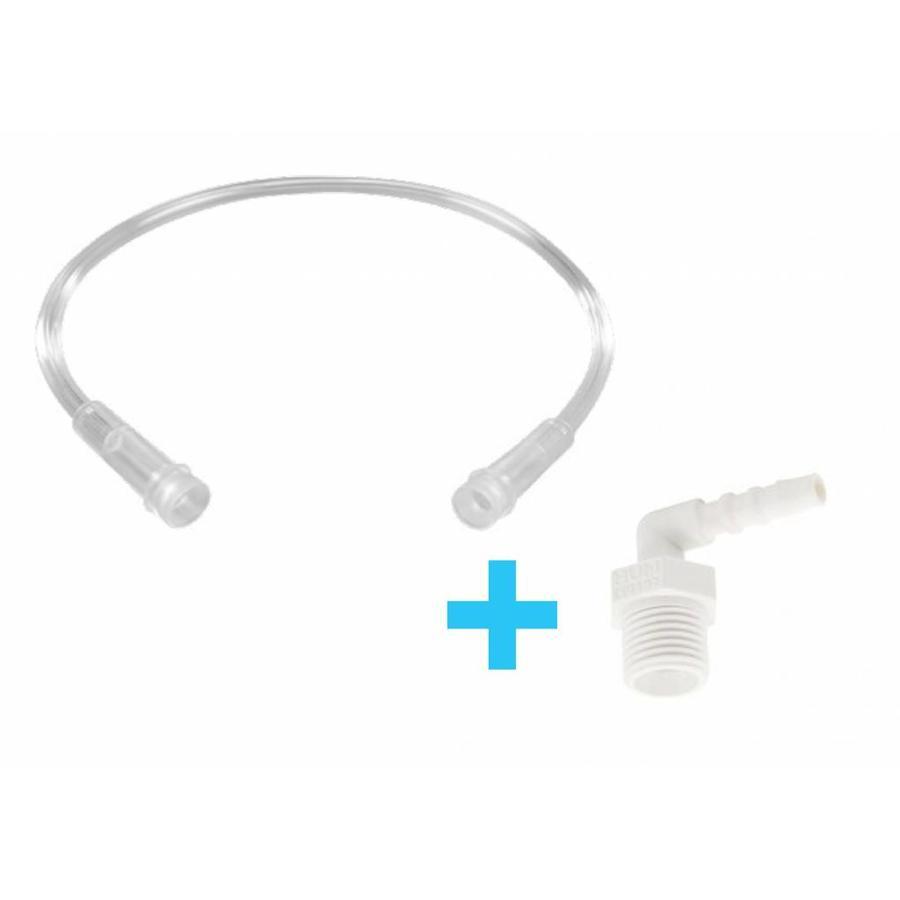 Verbindingsslang van 33 centimeter inclusief adapter voor bevochtiger