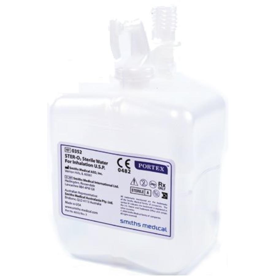 Voorgevulde bevochtiger met steriel water