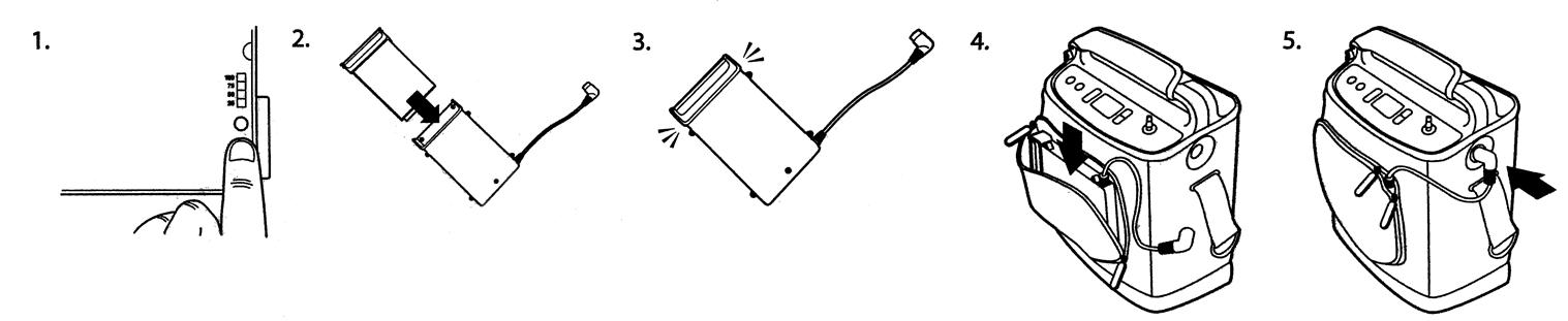 Het aansluiten van de SimplyGo externe batterij module