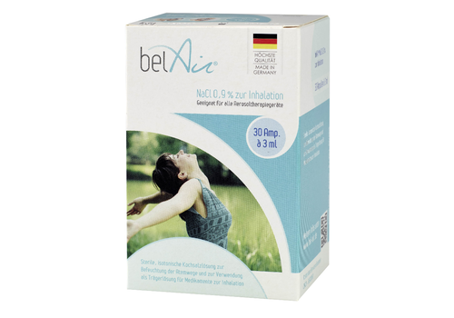 belAir Saline solution (NaCl 0,9%) ampoules