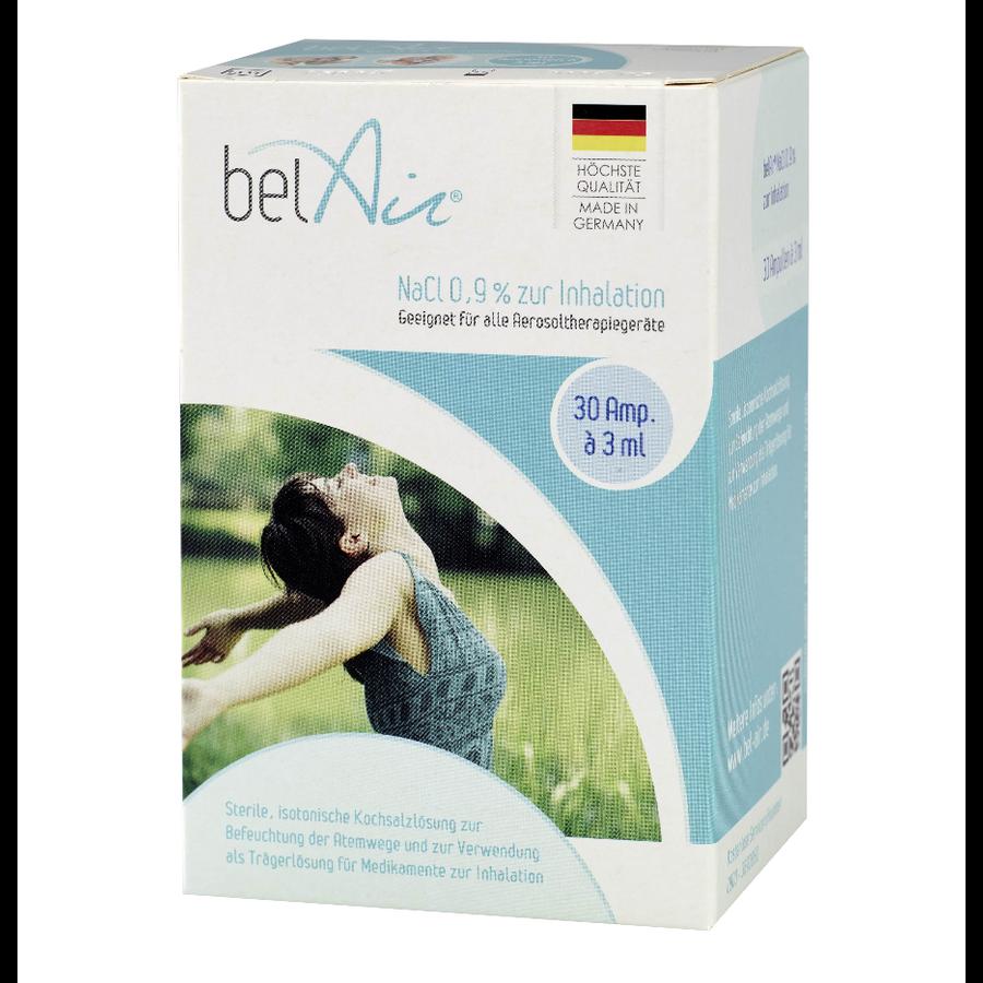 Saline solution (NaCl 0,9%), 30 ampoules à 3 ml