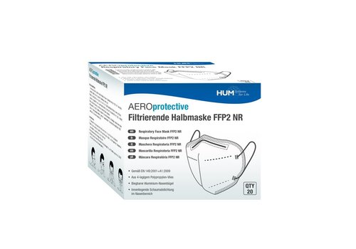 HUM Boîte de 20 masques FFP2 NR