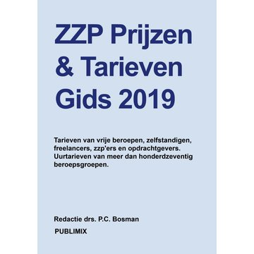 Publimix Uitgevers ZZP uurtarief - gids 2019