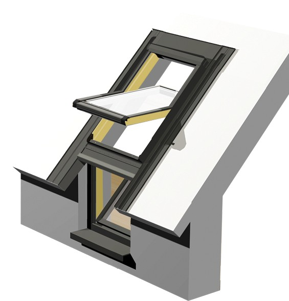 Intura - Dak/gevel raam hout KDN FIP E3