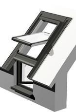 Intura - Dak/gevel raam kunststof KPVCN FIX R3 vast raam