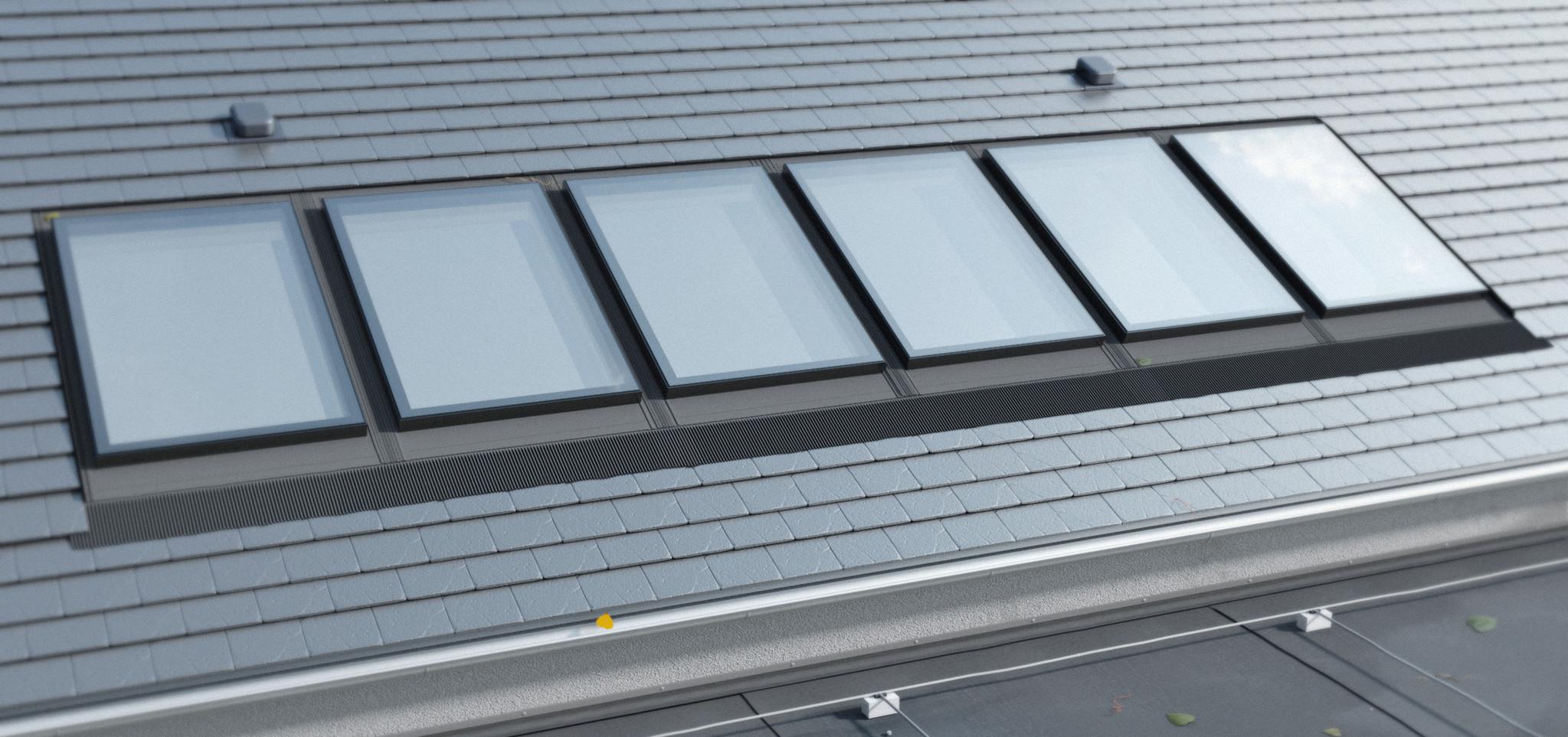 Intura IGX F1 lichtstraat hellend dak