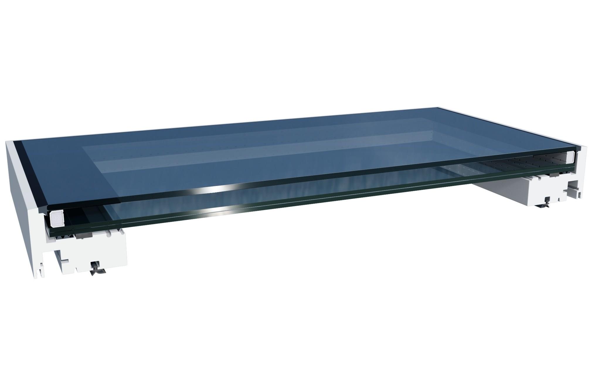Doorsnede lichtkoepel renovatiemodule Intura DGP A1