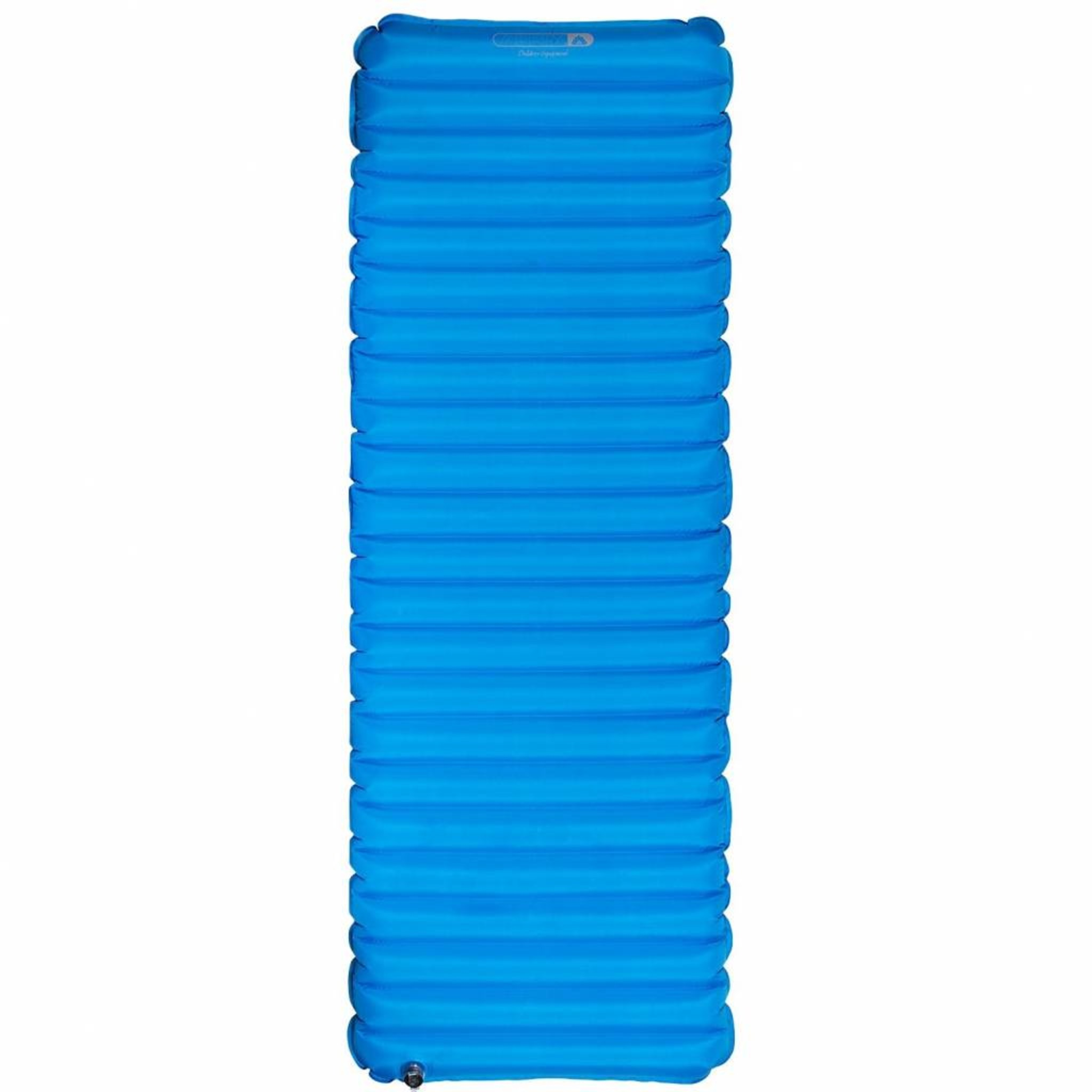 Abbey Camp® Compact Eenpersoons Luchtbed 193x70x9cm Blauw