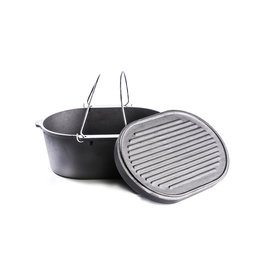 Valhal Outdoor Dutch Oven & Grill Ovaal 9 Liter